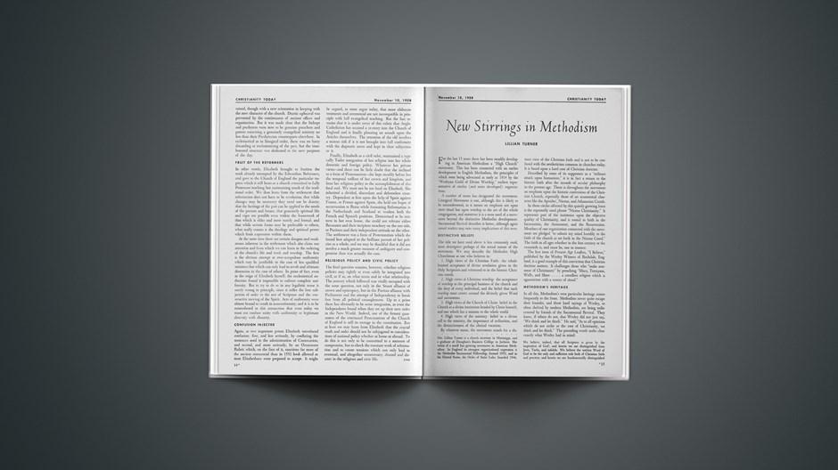 New Stirrings in Methodism