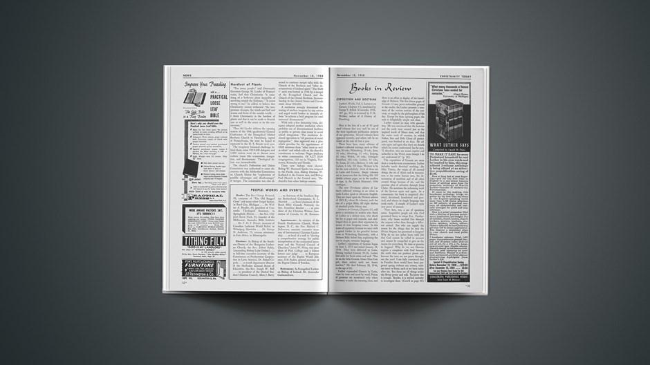 Book Briefs: November 10, 1958