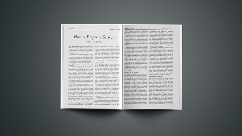 How to Prepare a Sermon