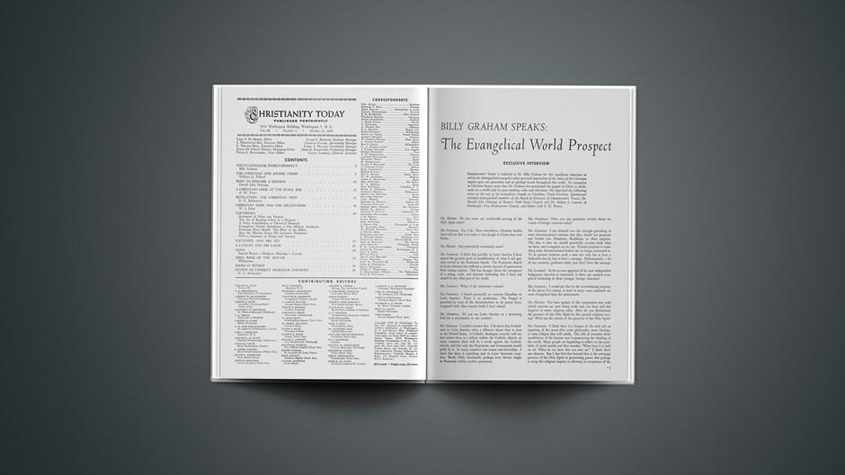 Billy Graham Speaks: The Evangelical World Prospect