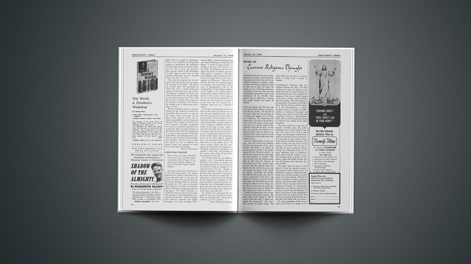 Review of Current Religious Thought: October 13, 1958