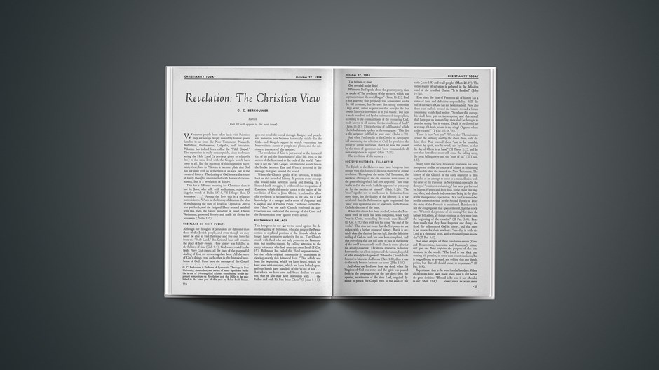 Revelation: The Christian View (Part II)
