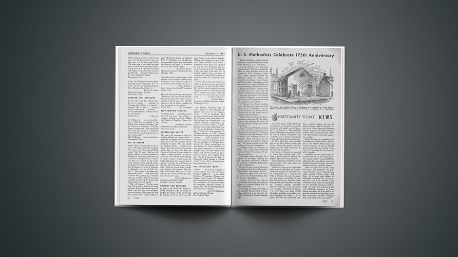 U. S. Methodists Celebrate 175th Anniversary