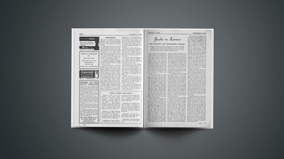 Book Briefs: December 7, 1959