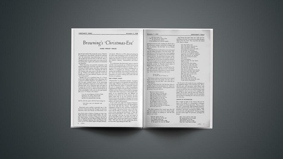 Brownings 'Christmas-Eve'
