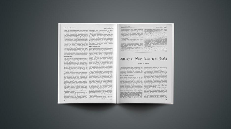 Survey of New Testament Books 1959