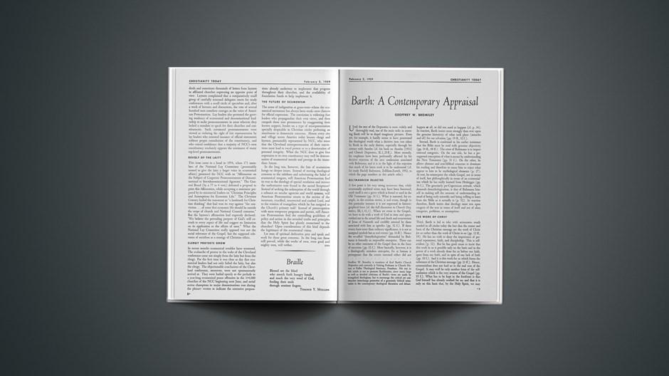 Barth: A Contemporary Appraisal