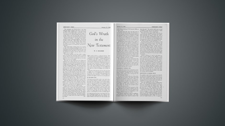 God's Wrath in the New Testament