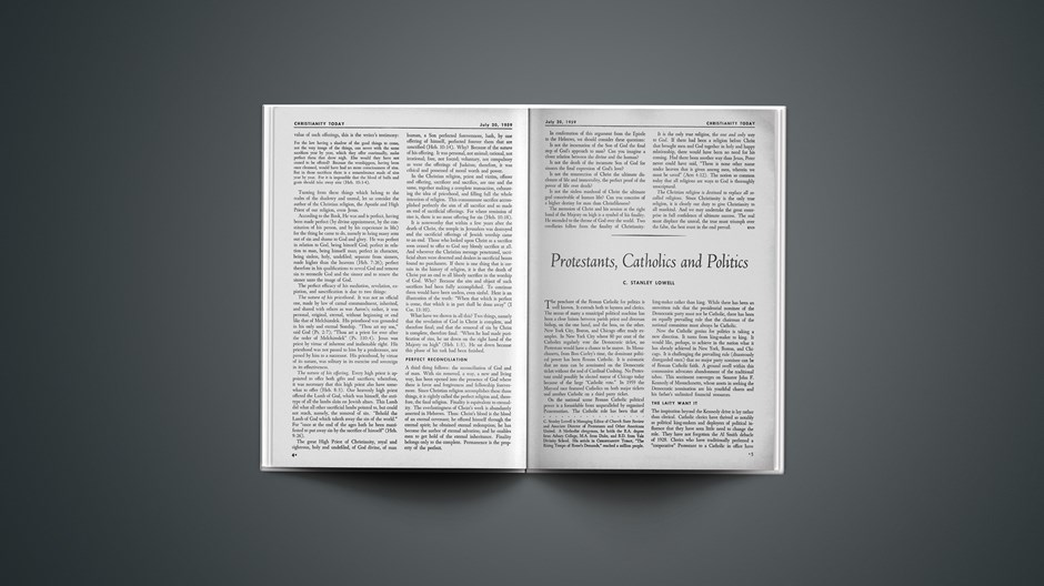Protestants, Catholics and Politics