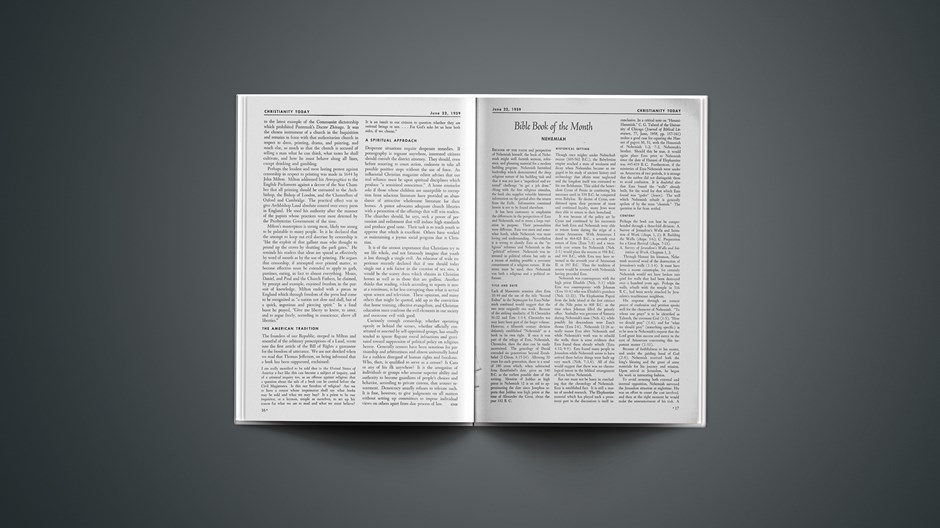 Bible Book of the Month: Nehemiah