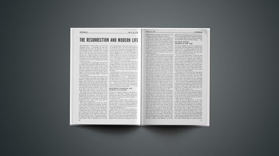 The Resurrection and Modern Life
