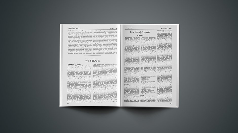 Bible Book of the Month: Romans