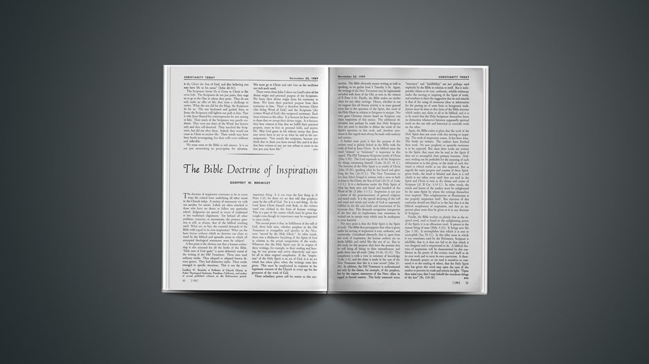 The Bible Doctrine of Inspiration