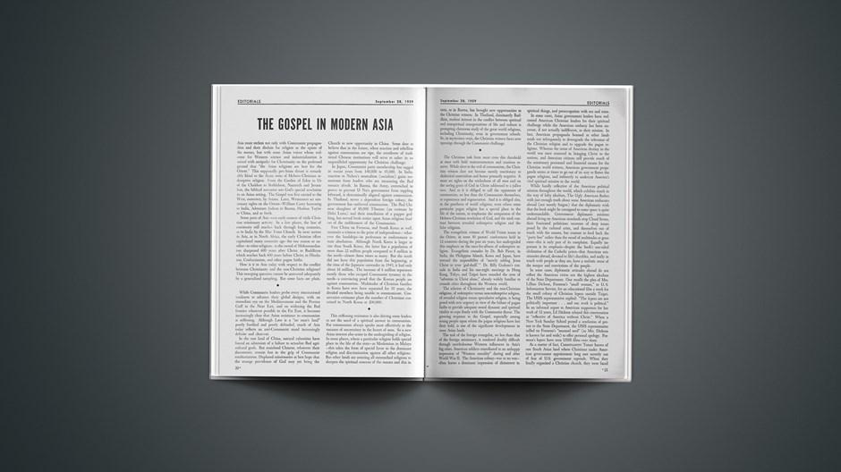 The Gospel in Modern Asia