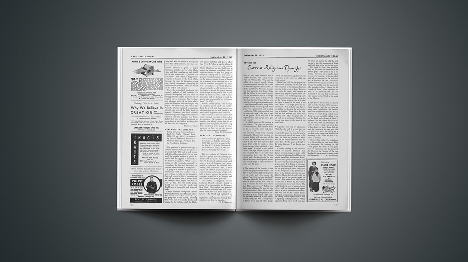 Review of Current Religious Thought: September 28, 1959