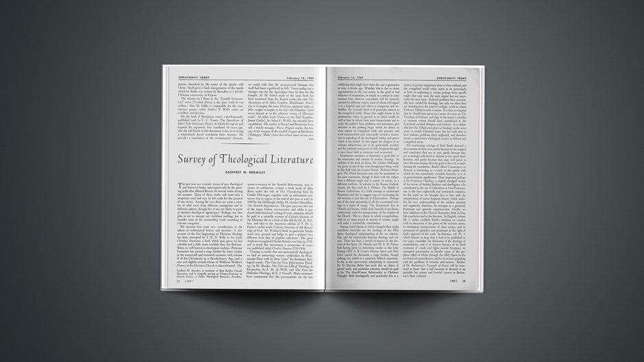 Survey of Theological Literature