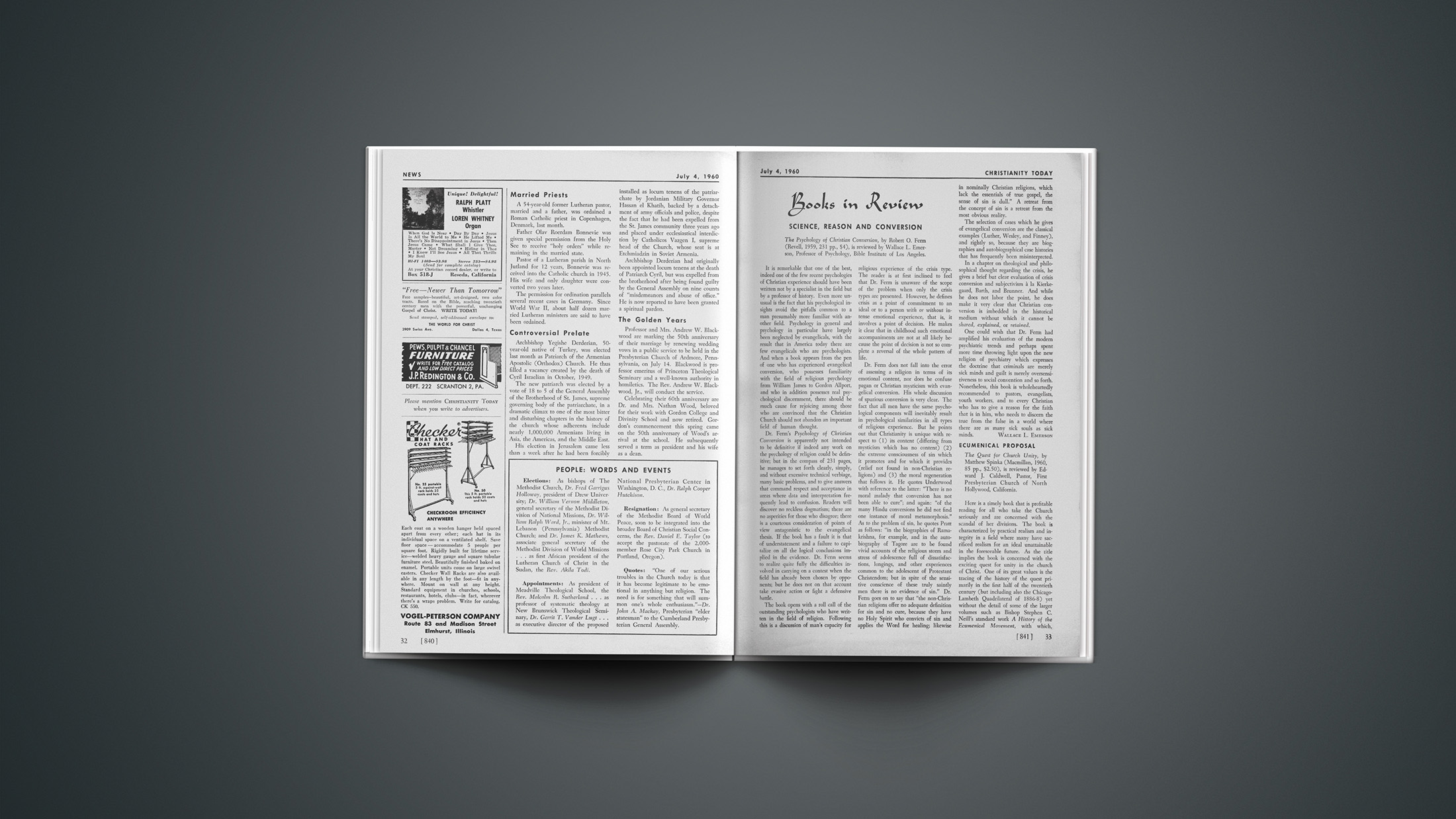 Book Briefs: July 19, 1960   Christianity Today