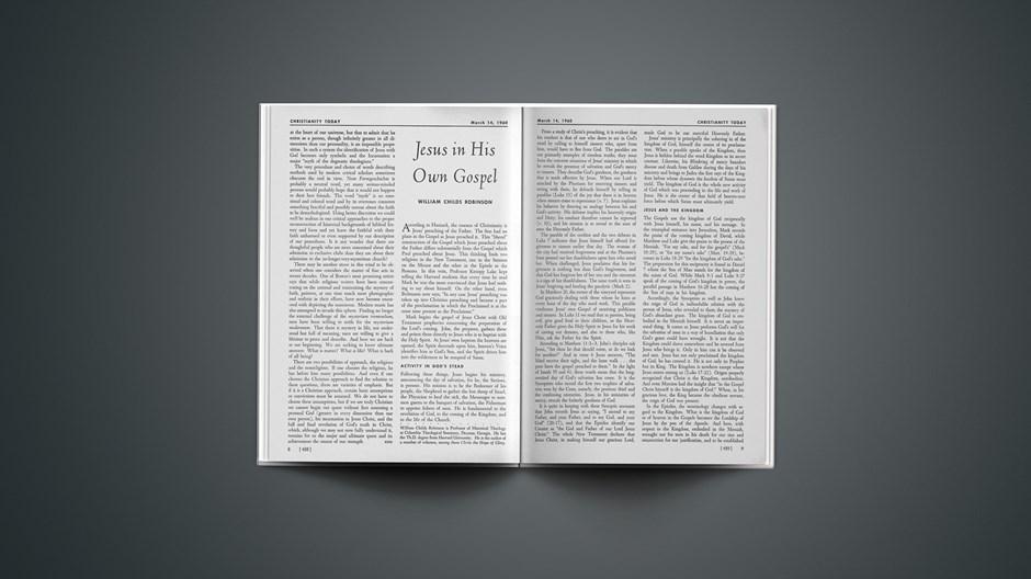 Jesus in His Own Gospel