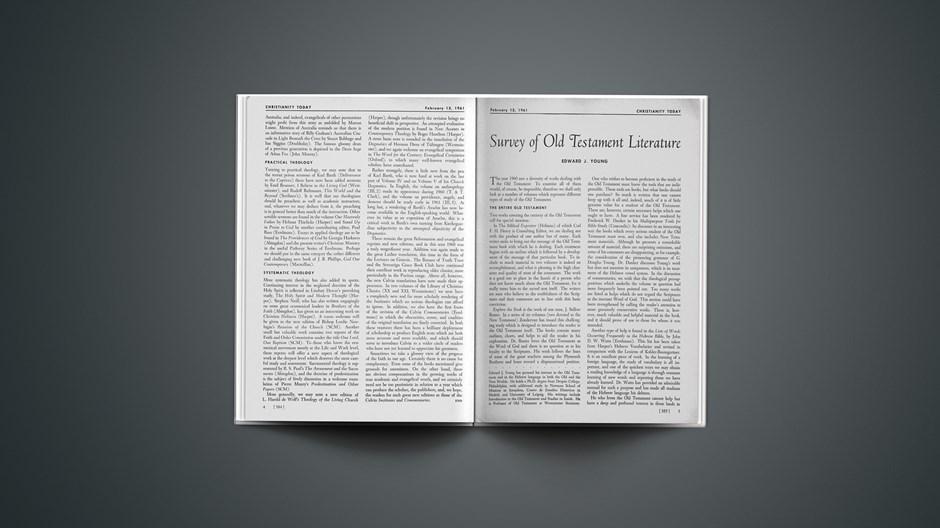 Survey of New Testament Literature 1961