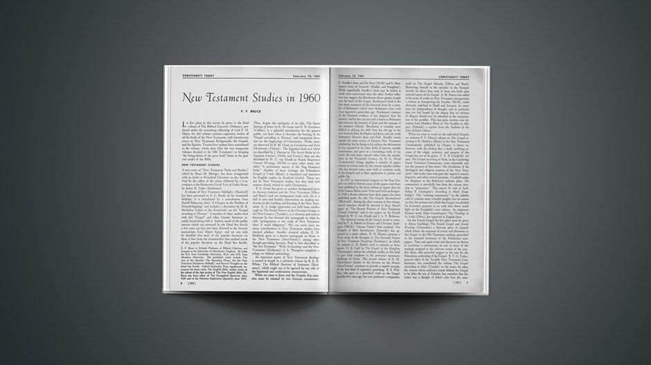 New Testament Studies in 1960