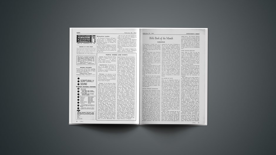 Bible Book of the Month: Habakkuk