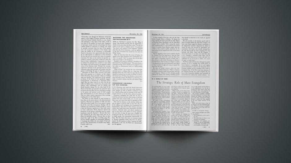 The Strategic Role of Mass Evangelism