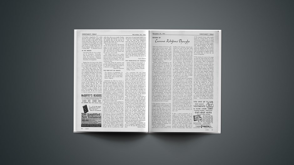 Review of Current Religious Thought: November 24, 1961