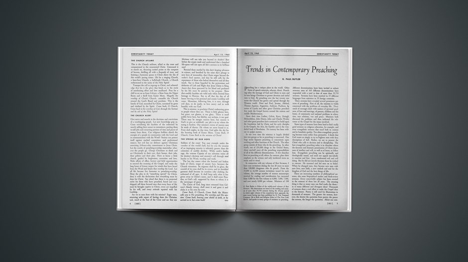 Trends in Contemporary Preaching