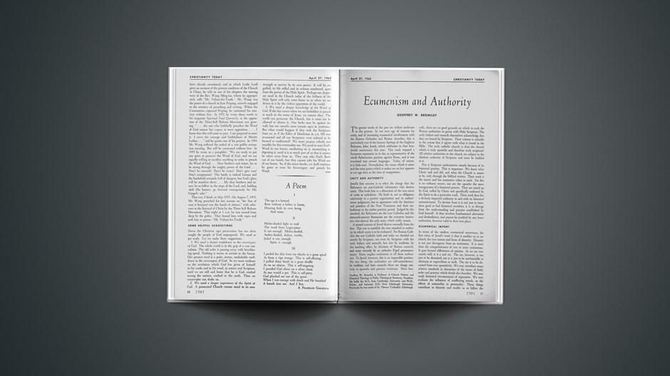Ecumenism and Authority