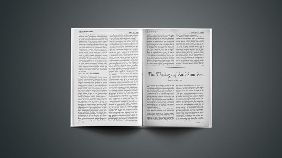 The Theology of Anti-Semitism