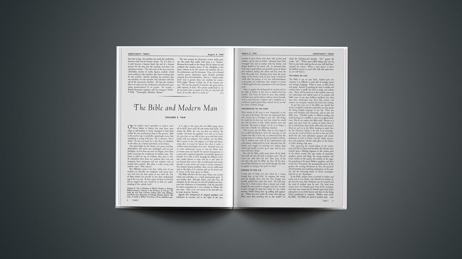 The Bible and Modern Man