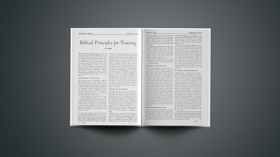 Biblical Principles for Training