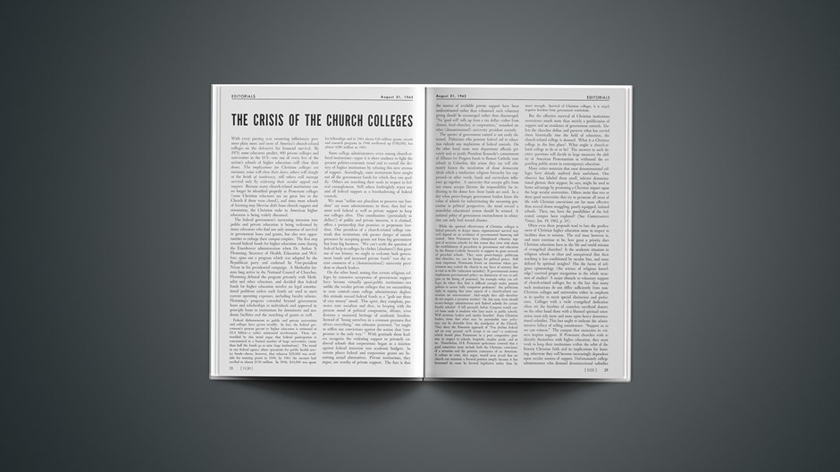 The Crisis of the Church Colleges