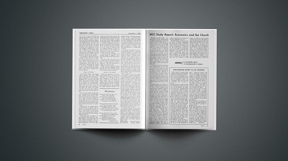 NCC Study Report: Economics and the Church