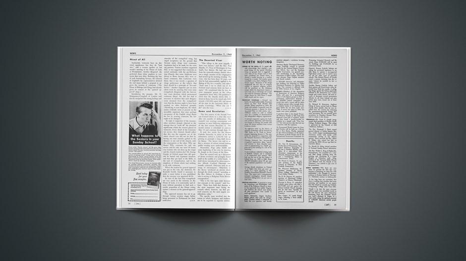 News Worth Noting: December 07, 1962