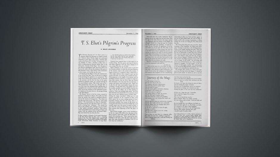 T. S. Eliot's Pilgrim's Progress