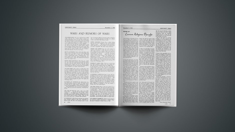 Review of Current Religious Thought: December 07, 1962