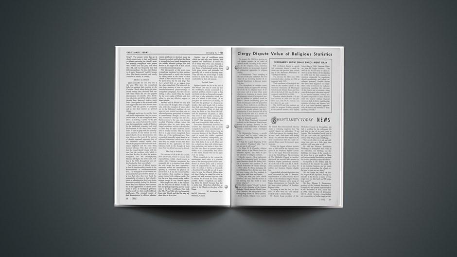 Clergy Dispute Value of Religious Statistics