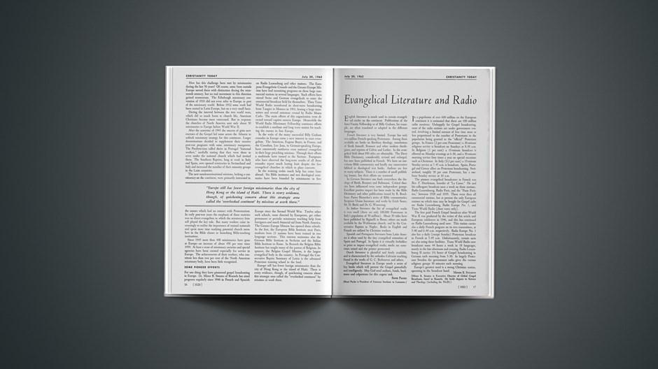 Evangelical Literature and Radio