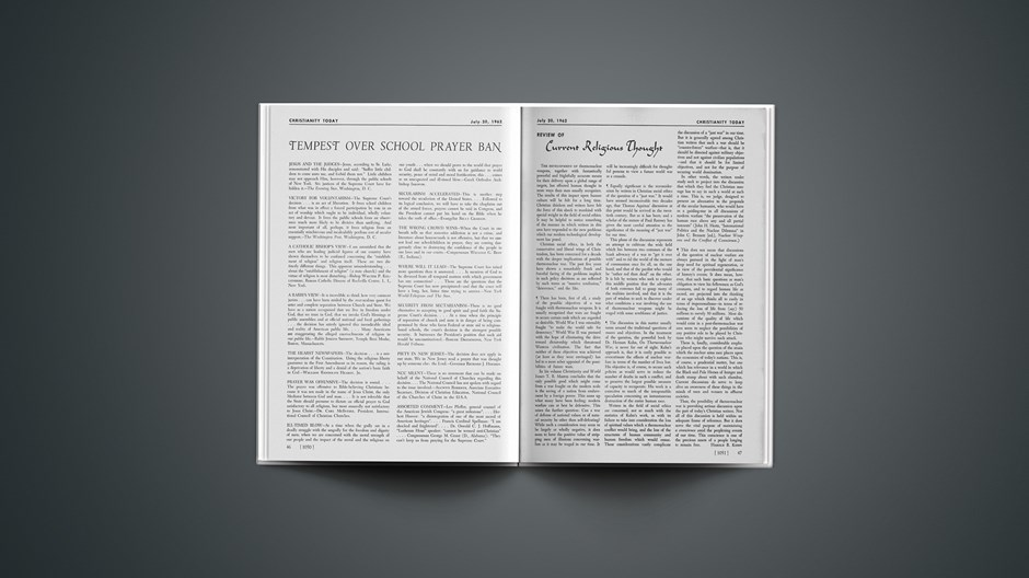 Review of Current Religious Thought: July 20, 1962