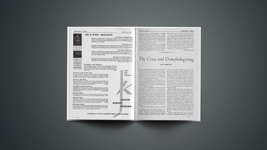 The Cross and Demythologizing