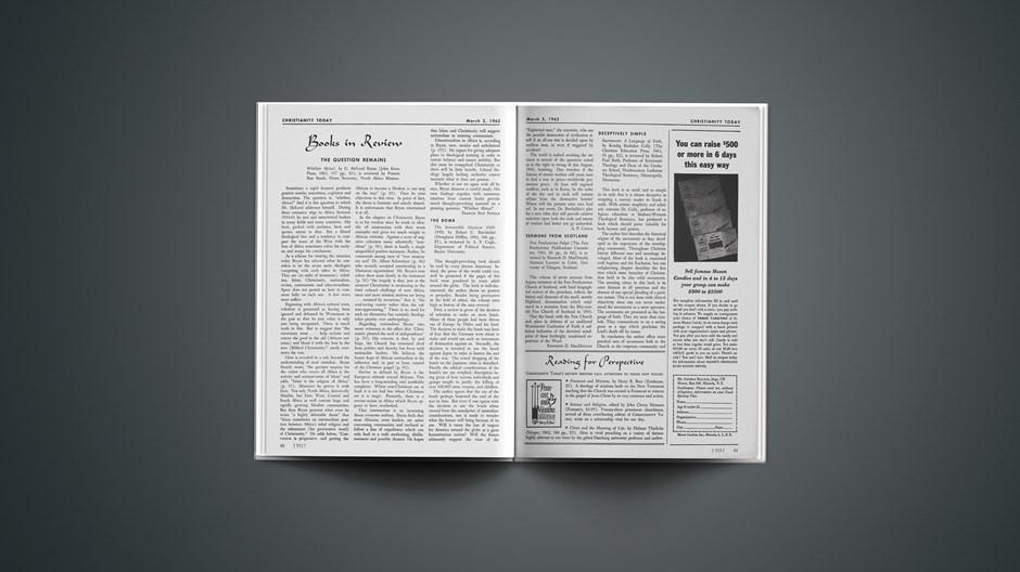 Book Briefs: March 2, 1962