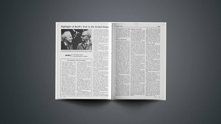 Highlights of Barth's Visit to the United States