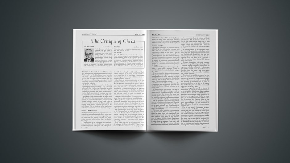 The Critique of Christ