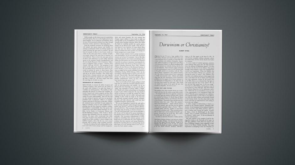 Darwinism or Christianity?