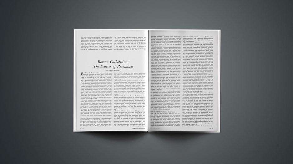 Roman Catholicism: The Sources of Revelation