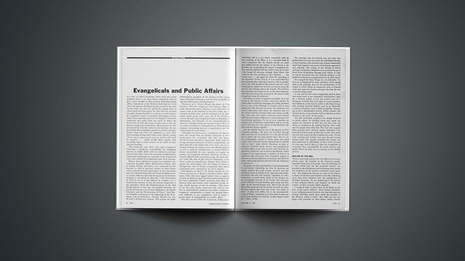 Evangelicals and Public Affairs
