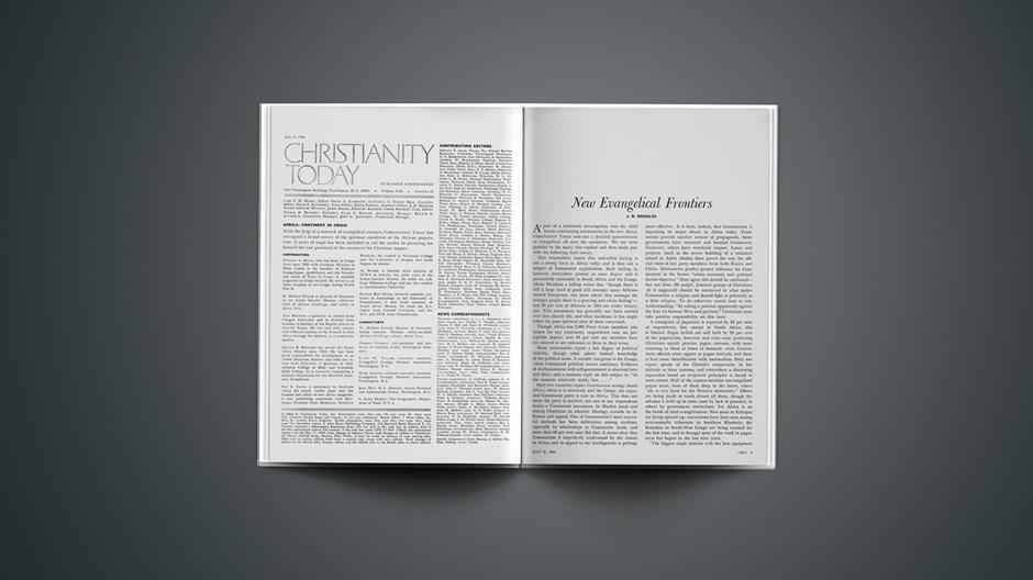 New Evangelical Frontiers