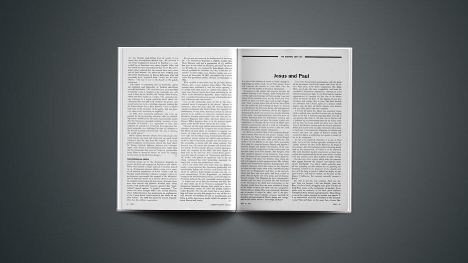 The Eternal Verities: Jesus and Paul
