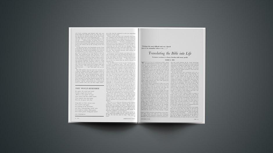 Translating the Bible into Life